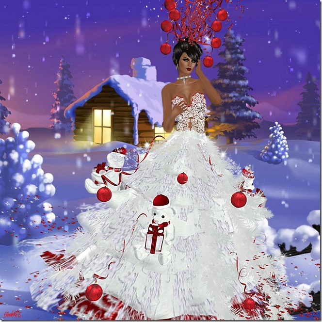 Fellini Christmas Couture Gown_001